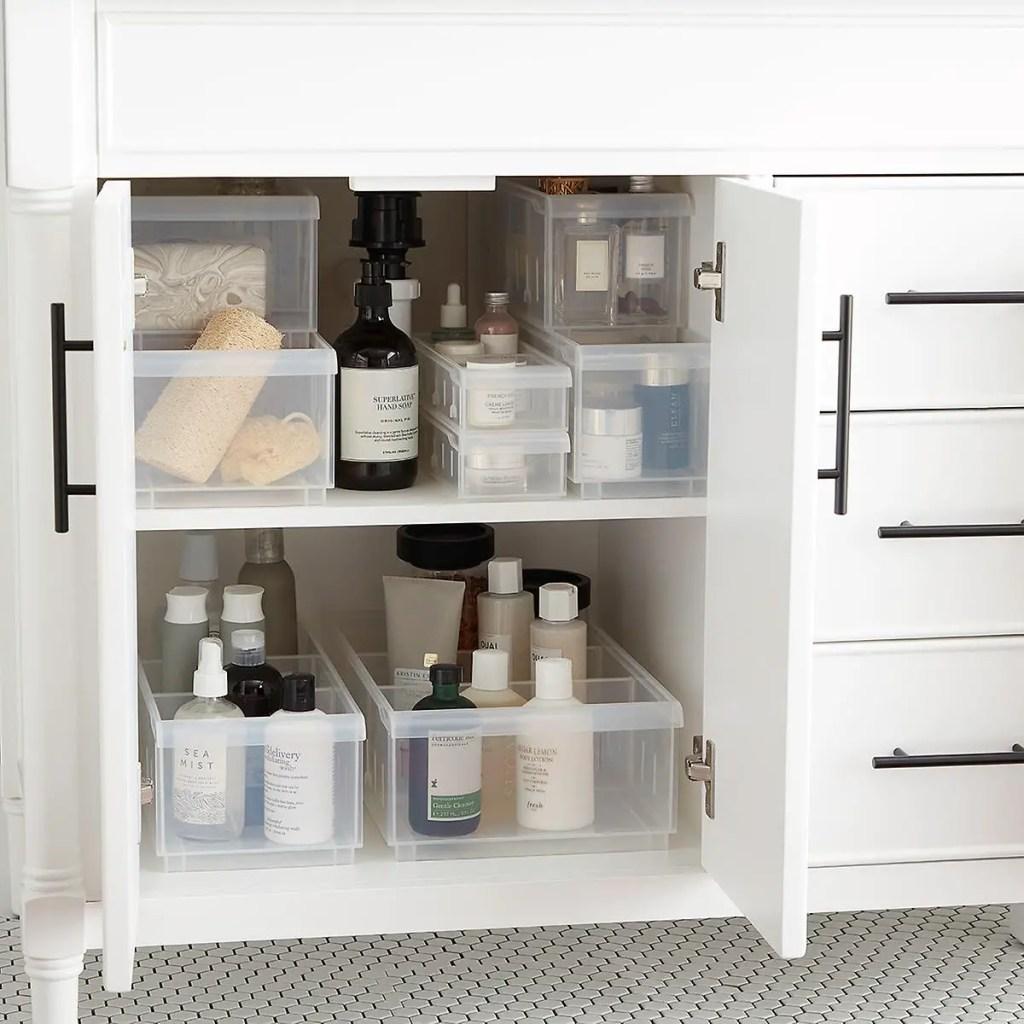 Organized Under the sink Medicine cabinet