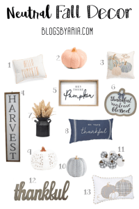 FRIDAY FINDS: FALL DECOR