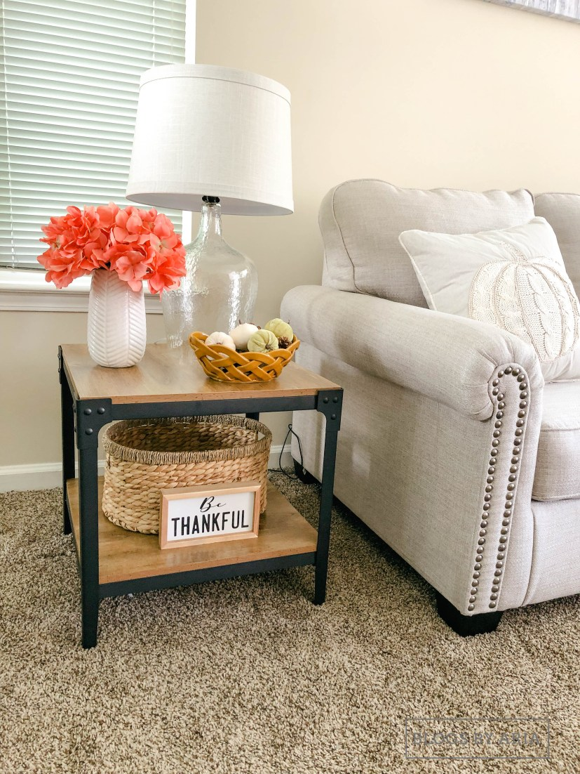 Fall End Table Decor