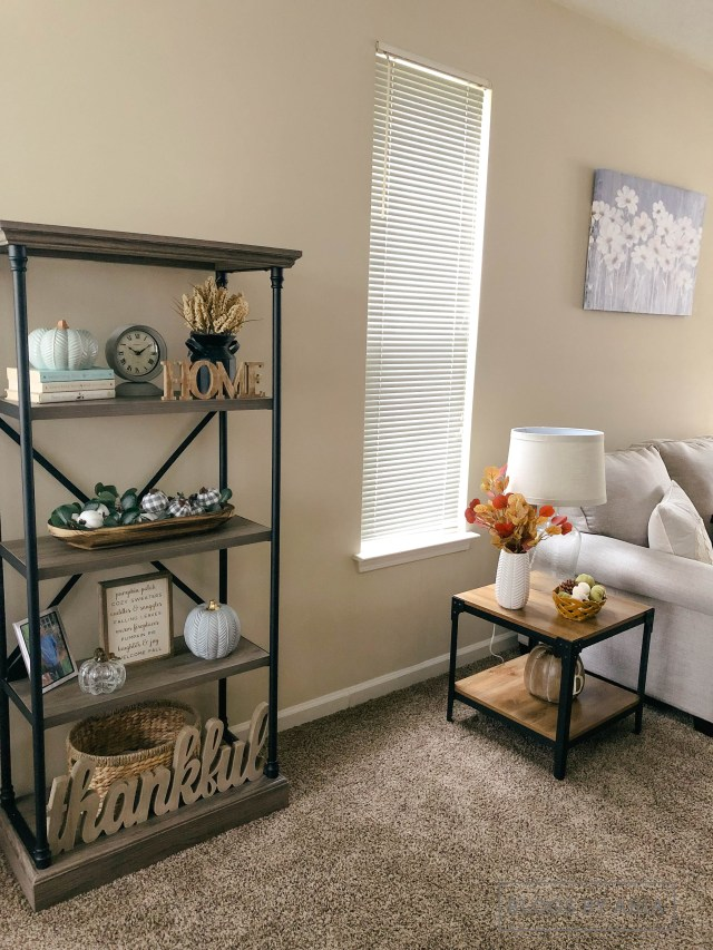 how to add fall decorations to living room