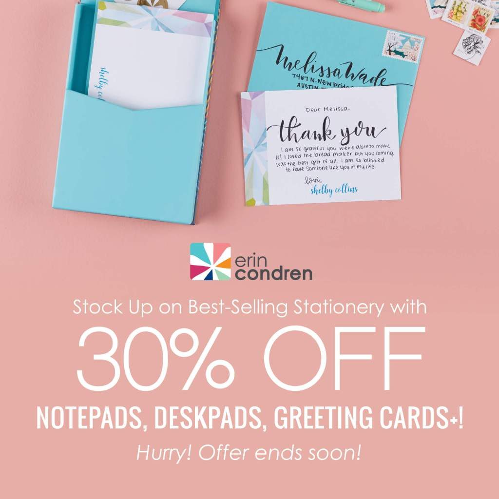 Erin Condren Stationary Sale