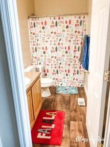 Kids Bedroom and Bathroom Decorated for Christmas