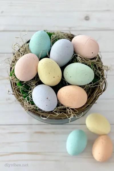 DIY Speckled Easter Eggs