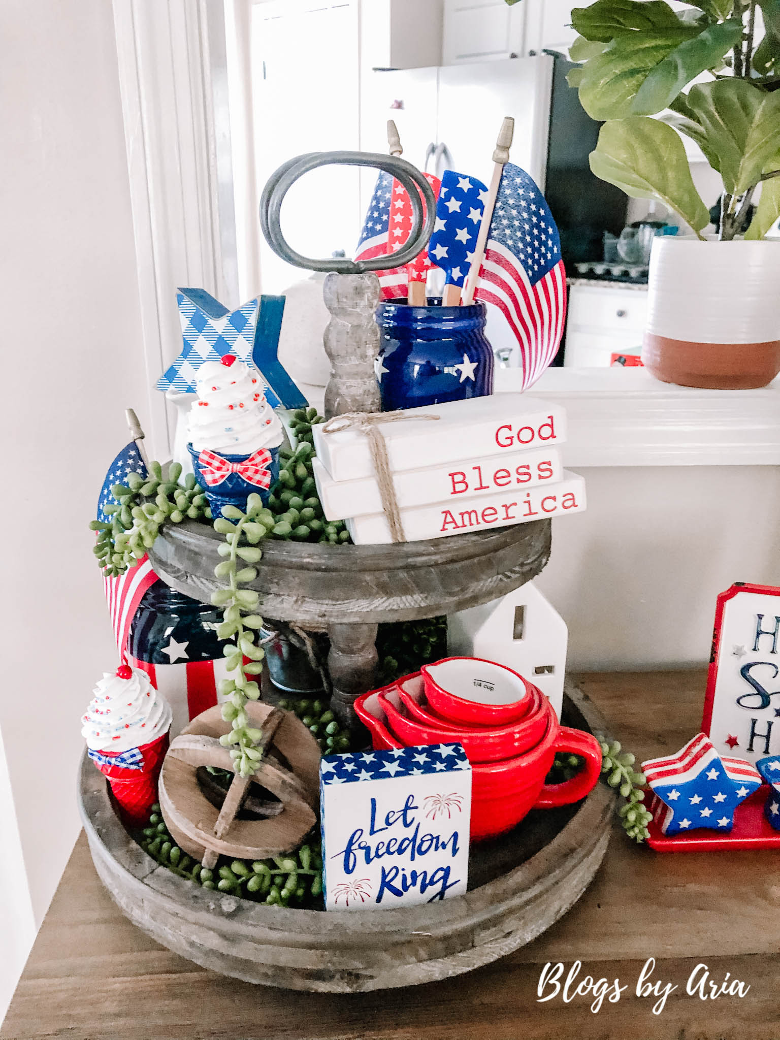 patriotic tiered tray ideas