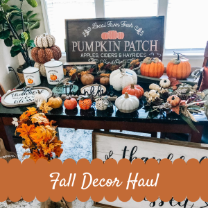Fall Decor Haul