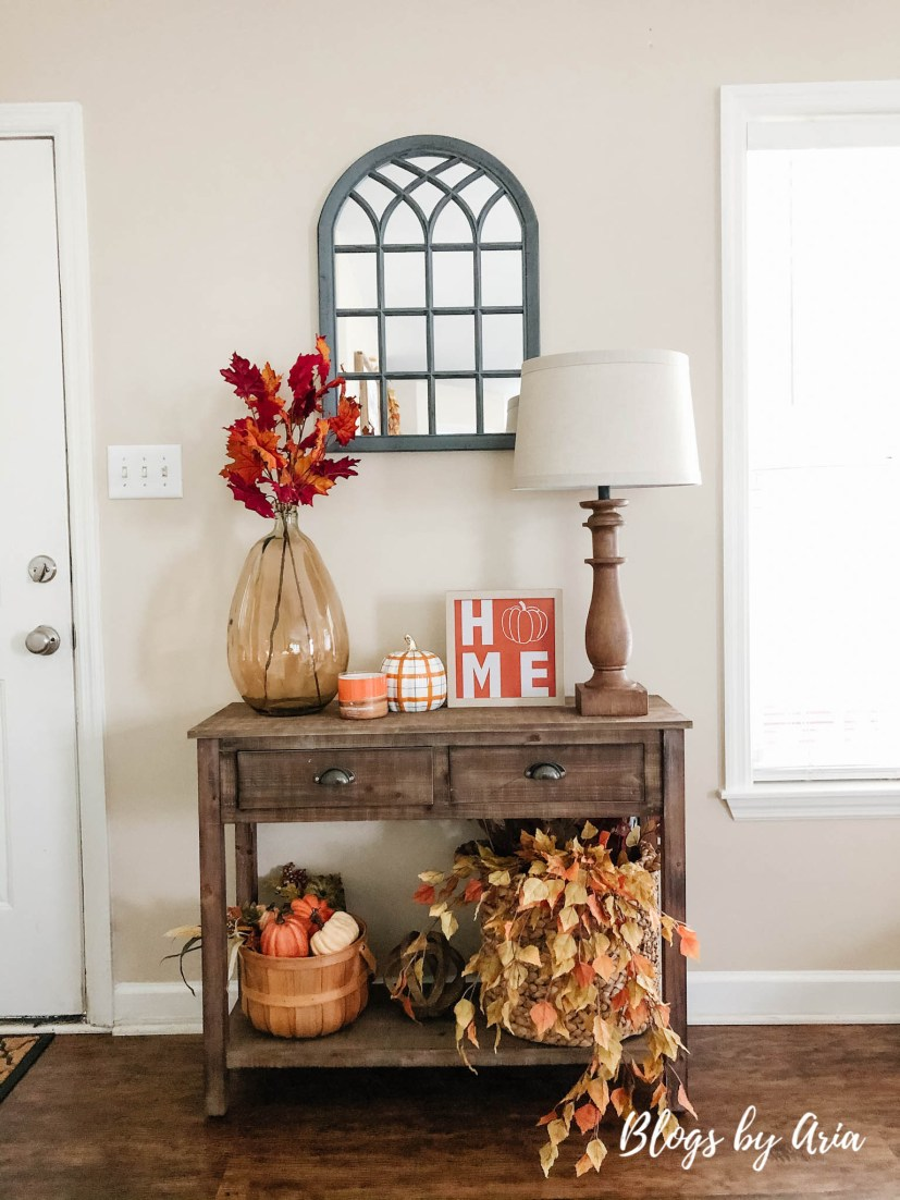 fall entry table decorating