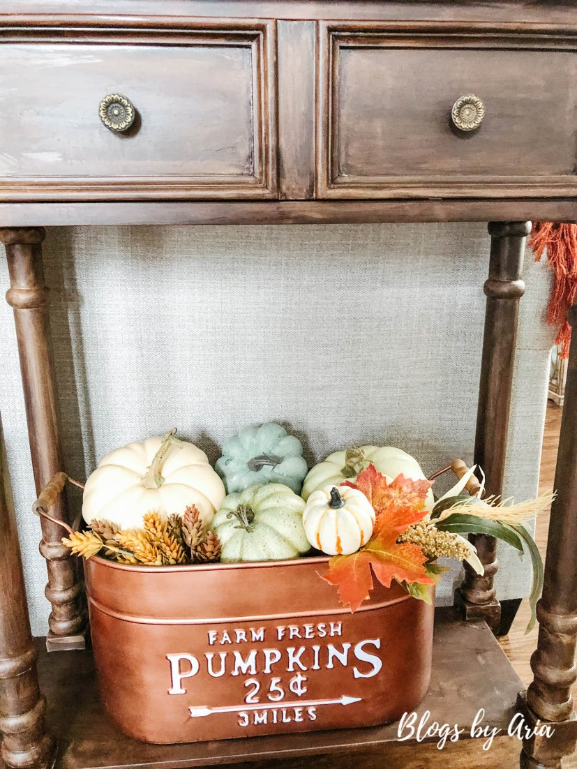 copper fall pumpkin bin