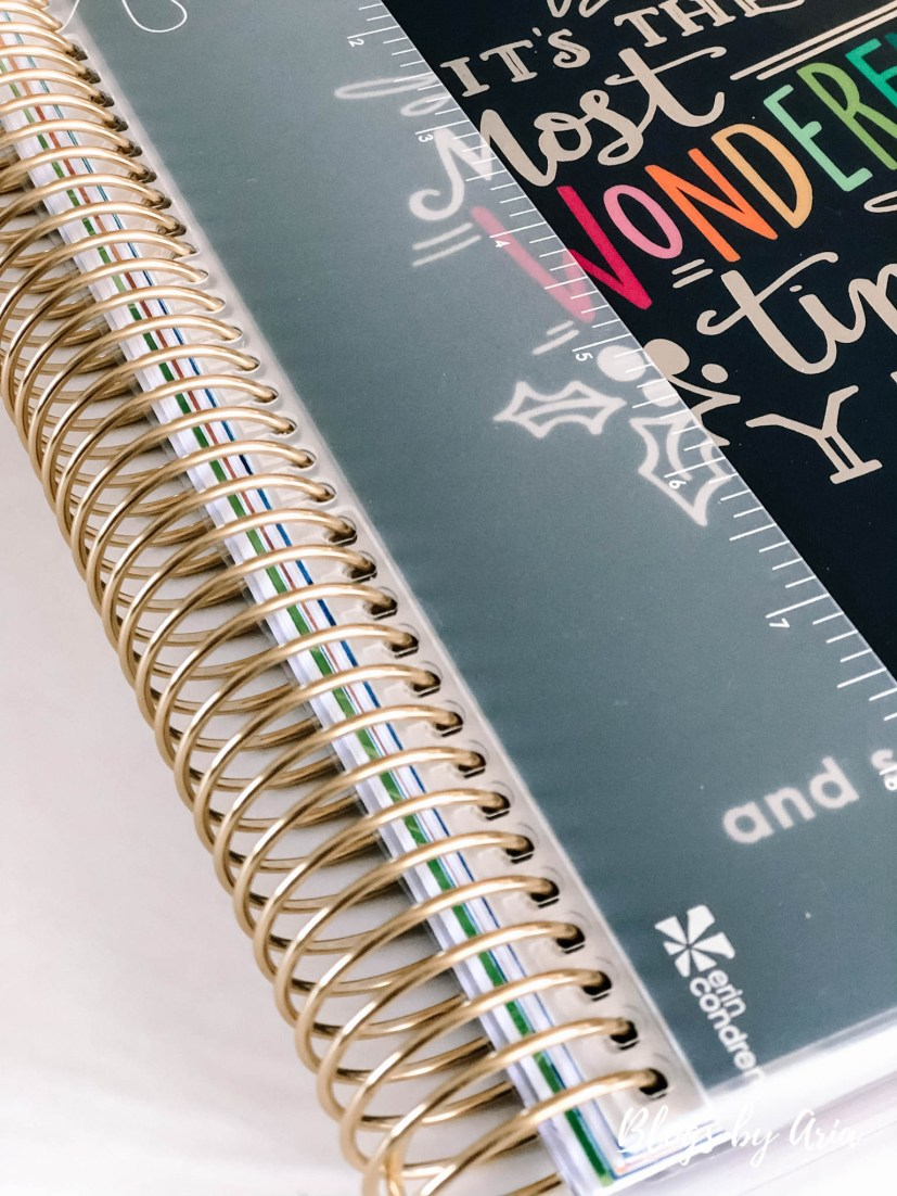 Erin Condren Life Planner with gold coil
