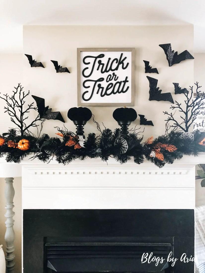 halloween fireplace decor on a budget