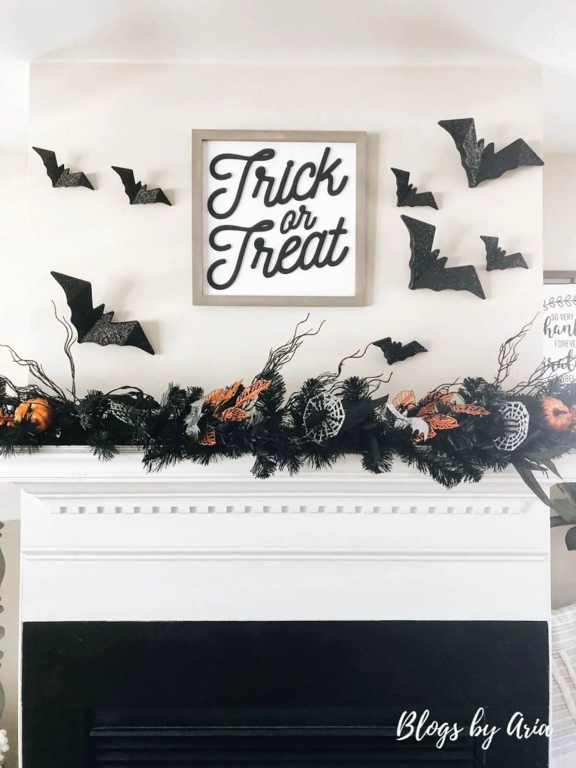 halloween fireplace garland