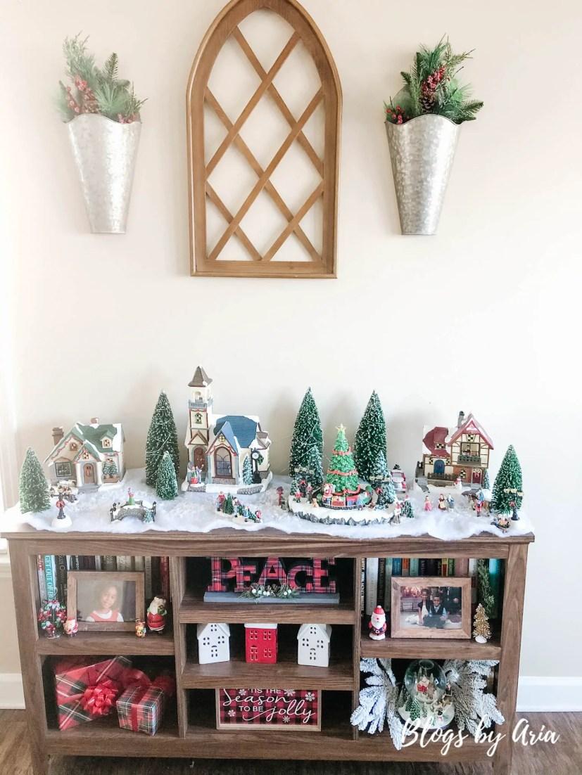 Christmas village decorating ideas