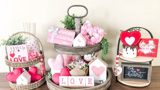 Valentine's Tier Tray Styling