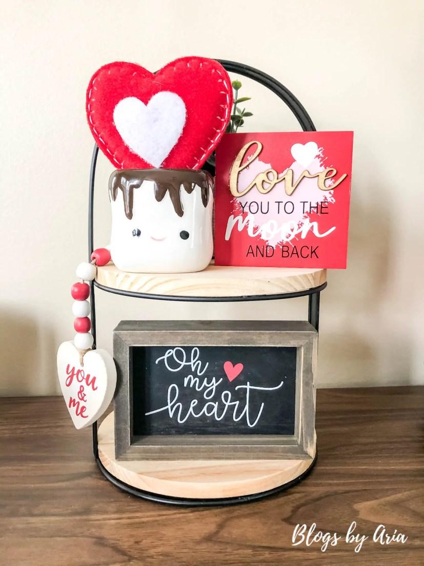 valentines tiered tray decor