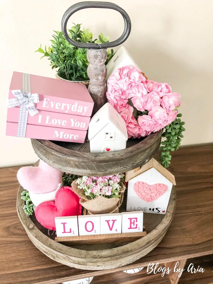 valentines tiered tray
