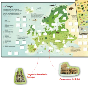 stickers wereldatlas