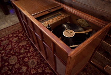 Record Player with tall spindle