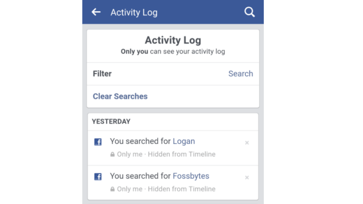 How Do You Delete or Clear Facebook Search History