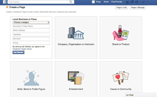 Create Facebook Business Page - Facebook Page Creation
