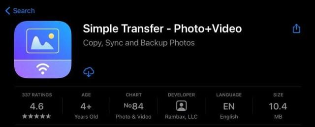 Simple transfer App