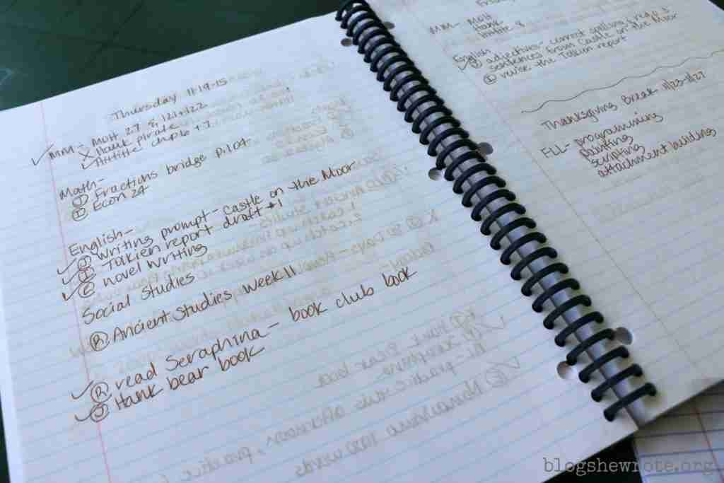 Homeschool Planning With A Spiral Notebook Blog She Wrote