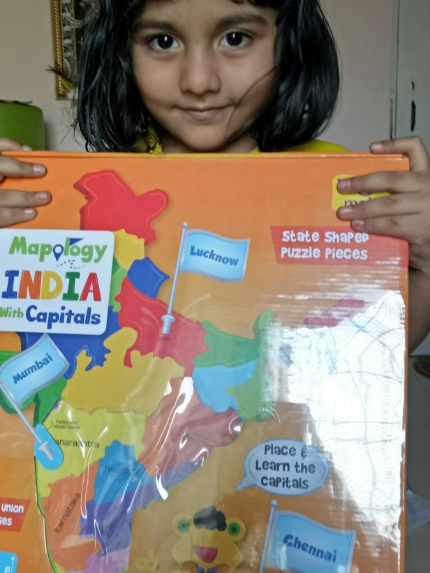 Angel learning Indian state using mapology