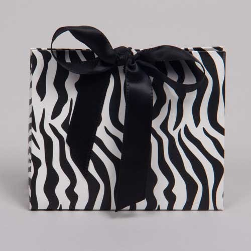Zebra Print Gift Wrapping With Kids