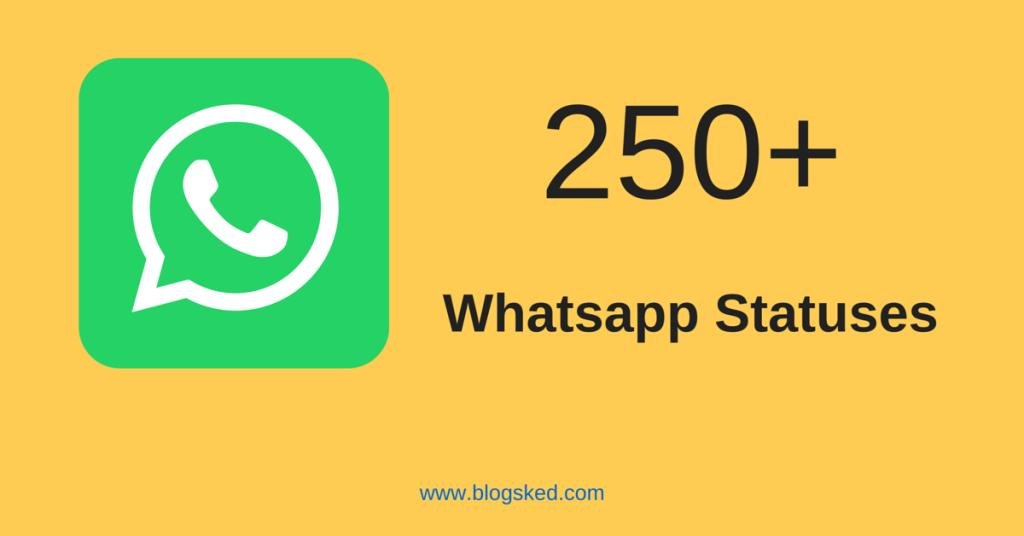 250+ best whatsapp status updates for 2017