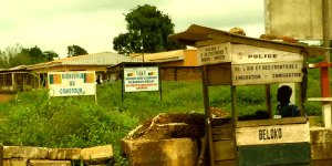 Border between Central African Republic and Cameroon in Garoua Boulai,