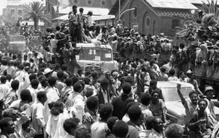 Celebration in streets in Eritrea