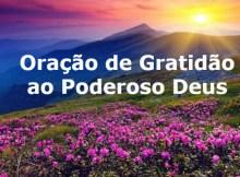 Oração da gratidão ao poderoso Deus
