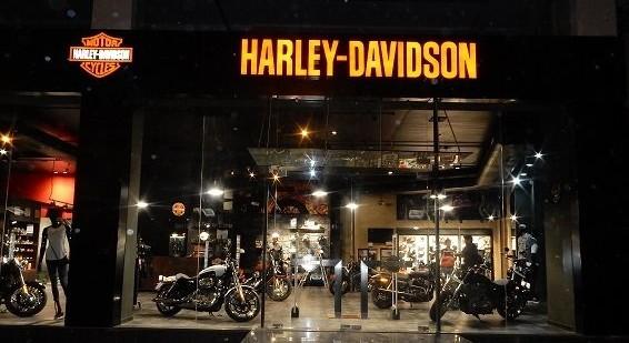 Harley-Davidson showroom