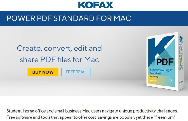 Kofax Power PDF for Mac