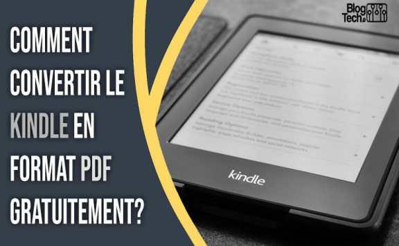 Convertir le Kindle en format PDF