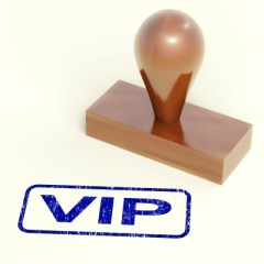 Rubber Stamp With VIP Word by Stuart Miles