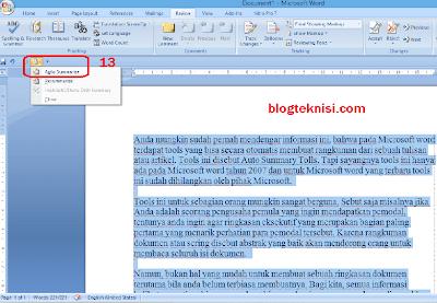 Rangkuman Otomatis di Microsoft Word