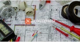 menggambar instalasi listrik penerangan rumah tinggal