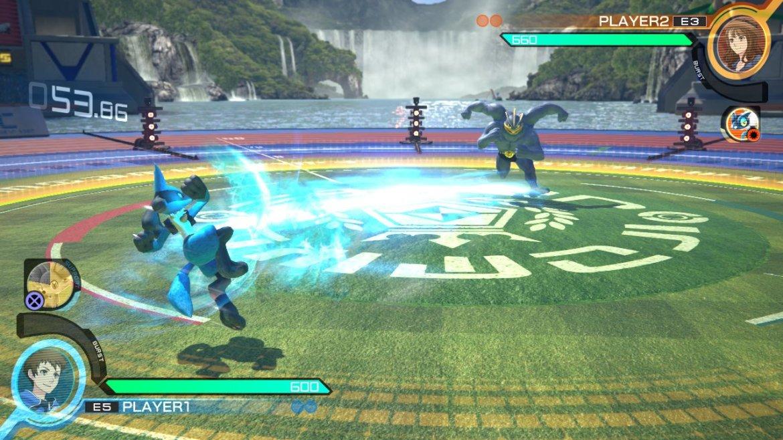 Acá se puede observar la fase de campo donde los Pokemon están alejados