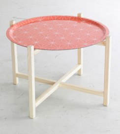 Ikea Brakig Table basse rose