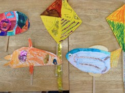 """The kids made their own props for their performance of """"Cat in the Hat."""""""