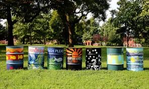 The finished cans. Photo credit: Brian Schneider, www.ebrianschneider.com