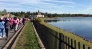 The walk followed a beautiful path around Lake Montebello.
