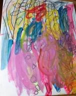 Self-portrait, 5 -year-old boy