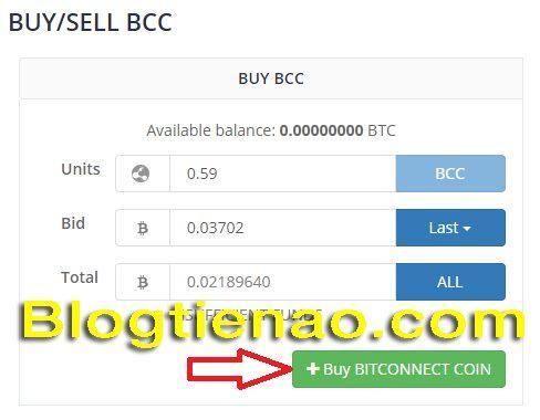 Mua BCC bằng BTC để Lending