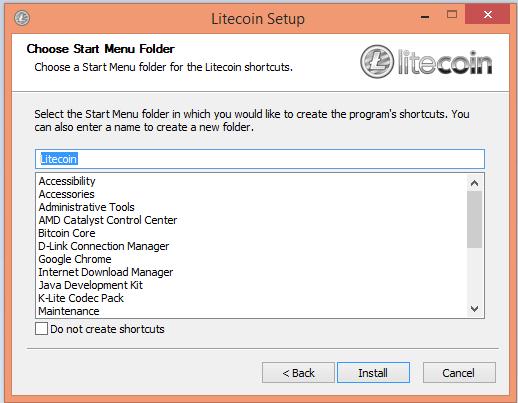 Tạo ví Litecoin bước 3