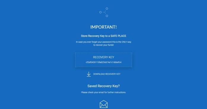 Lưu lại chìa khóa khôi phục tài khoản ví XRP