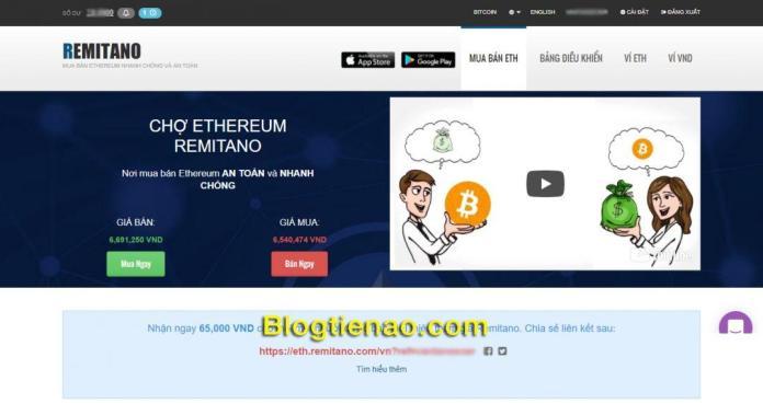 Remitano mua bán Ethereum