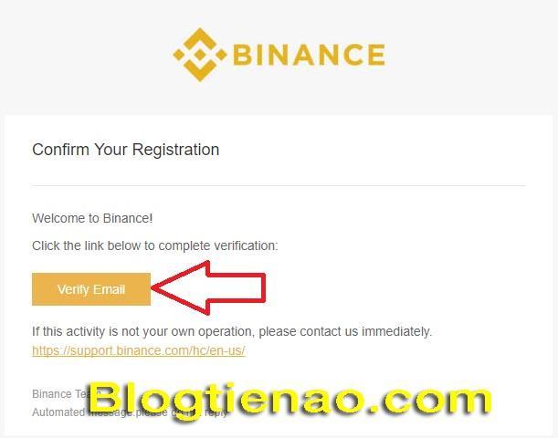 Hướng dẫn đăng ký tài khoản Binance. Ảnh 5