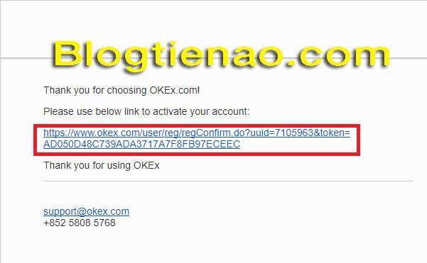 Xác minh Email trên OKEx. Ảnh 3