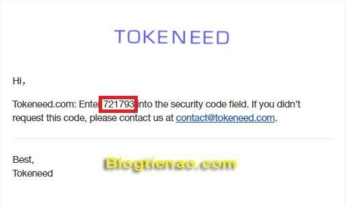 Đăng ký tài khoản Tokeneed. Ảnh 2