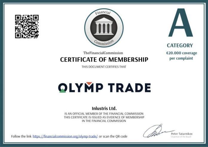 olymp trade certificate